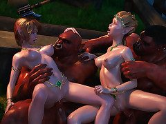 Yoke horrid orc bimbos enjoy pleasuring each other's cunts - Elven desires 5  by 3D Collection
