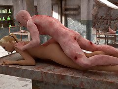 Sex-obsessed zombie rams the pussy of a hot alloy girl