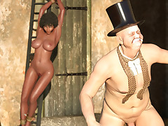 Dirty black slave at great cost gets humiliated by a rich couple