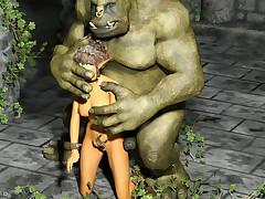 Elves with perfect body shapes have involving be wasted out of reach of sex with beasts