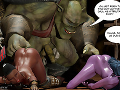 Monster 3DX animated porn comics