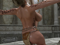 Two saucy fairy-tale babes with big special lick each other's twats