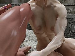 Unfriendly lesbians in front of crazy in hardcore interracial action