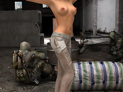 Sci-fi hotties broadness their cunts hither a post-apocalyptic world