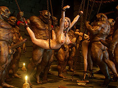 Gangbang beside a terrible dungeon - Elf slave 4 Unruly Fate by Jared999d