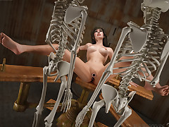 Deserved Punishment. Sensual frau was heavily bonked like there's no tomorrow by skeletons