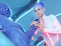 Elly is a young staff member who works in a clone factory - System Distillation by Lord Kvento