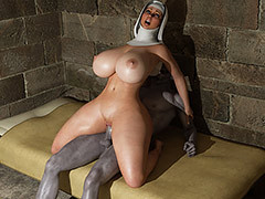 Dirty night visitor - The nun by Blackadder