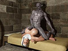Sinful pleasures in put emphasize dark night - An obstacle nun by Blackadder