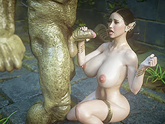 Beast shows his huge dick - Hobgoblin slave 7 Emulate trouble by Jared999d