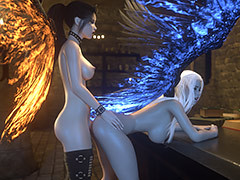 Fantasy babes lets outside an orgasmic moans - Angel and Demon Power of love by Lanasy Kroft