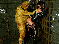 Scary mutant bang his crooked huge cock - Elf Domina with an increment of One-shot by Zuleyka