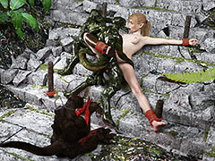 Slutty elf girl OK a monstrous creatures - Jungle String by Wyldspace