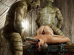 Hot sweeping enjoys pleasuring two monster cocks - After midnight by Blackadder