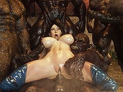Massive cocks drills soaking pussy - Monster eater 3 by Jared999D