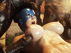 Hot girl survivor fucked and cum-covered by a monster - Monster eater 3 by Jared999D