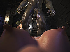Crazy creatures gangbang a pretty girl - Dungeon origins 2 by X3Z