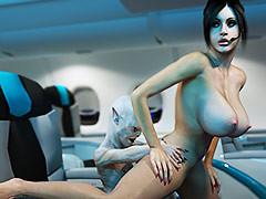 Kinky slut likes monsters - Z-Force by 3DXArt