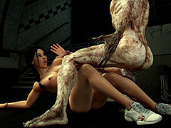 Bulky scary creature fucks of a pretty girl - Carinas Gloominess Trips 2 by 3DZEN