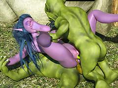 Chick alien night elves tribe fell victim to unholy goblins
